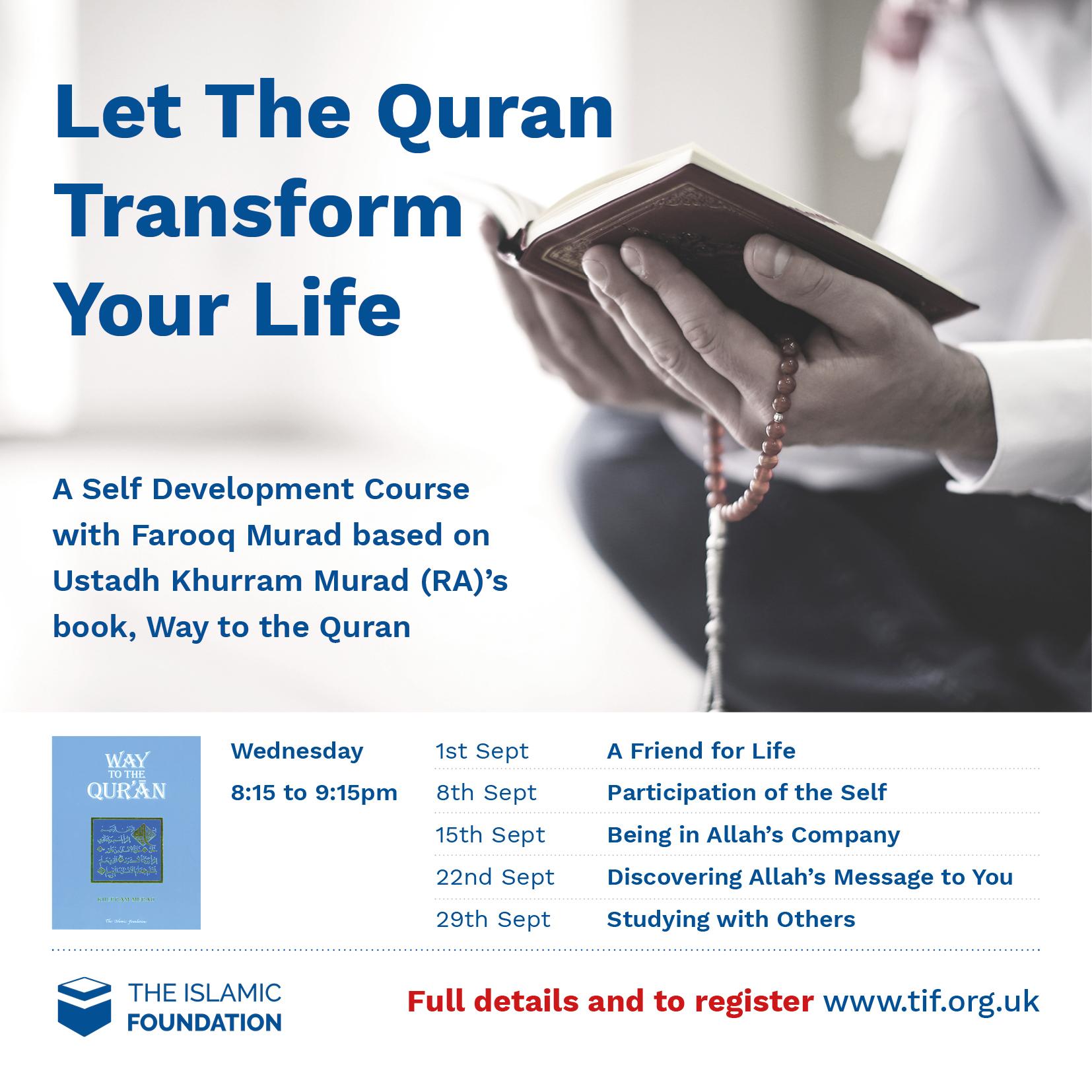 Let the Quran Transform Your Life