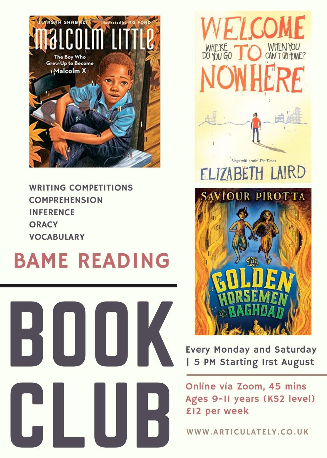 CHILDREN'S BAME READING SUMMER CLUB