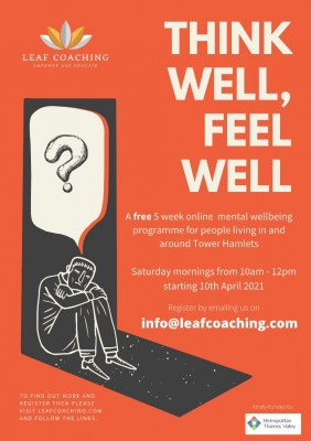 Think Well, Feel Well: A 5 week online Mental Wellbeing course for FREE