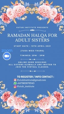 RAMADAN HALQA FOR ADULT SISTERS