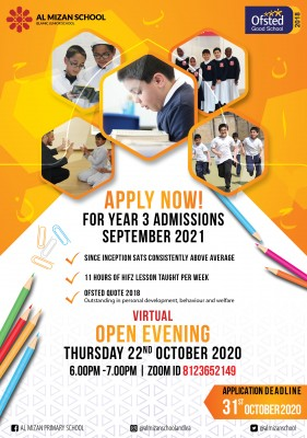 Al Mizan Primary School Virtual Open Evening