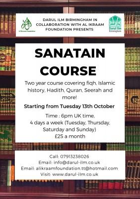 Sanatain Course