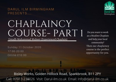 Chaplaincy Course - Part 1